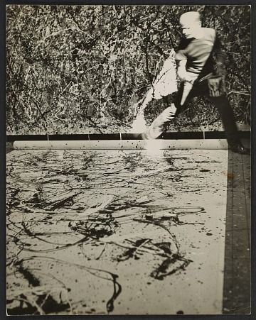 thumbnail image for Jackson Pollock in his studio