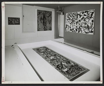 thumbnail image for An installation view of the Jackson Pollock show at the Sidney Janis Gallery