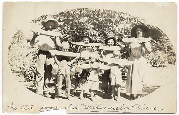 thumbnail image for Pollock family eating watermelon in Arizona