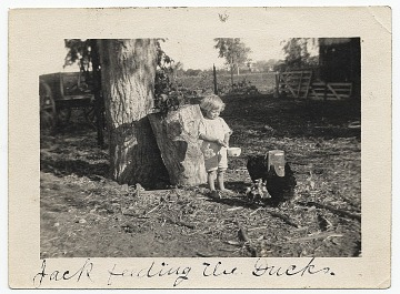 thumbnail image for Jackson Pollock as a young boy feeding ducks