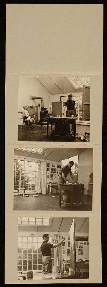 thumbnail image for Series of photographs of Fairfield Porter working in his Southampton studio