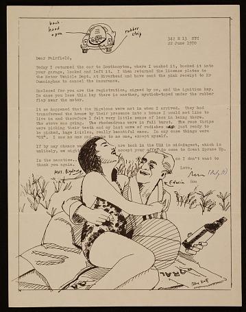 thumbnail image for Ron Padgett letter to Fairfield Porter