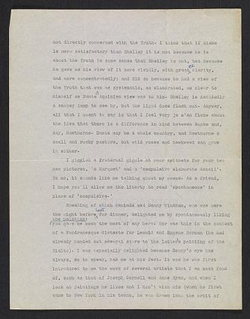 thumbnail image for James Schuyler letter to Fairfield Porter