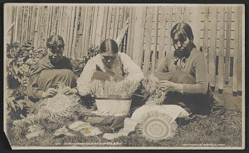 thumbnail image for Native women weaving baskets in Sitka, Alaska