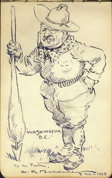 thumbnail image for James David Preston illustrated autograph book, 1904-1924