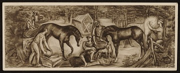 thumbnail image for Study for Post office mural by Josef Presser, in Southern Pines, N.C.