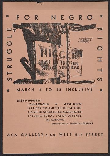 thumbnail image for <em>Struggle for Negro Rights</em> exhibition catalog