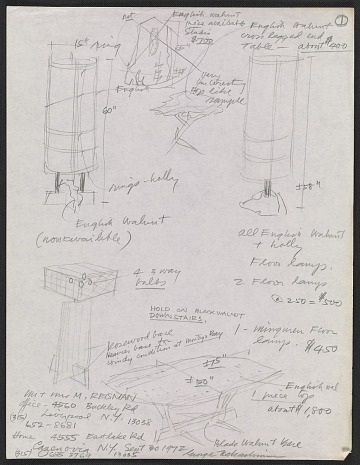 thumbnail image for Marshall Reisman papers concerning George Nakashima, 1959-2010, bulk 1972-1989