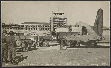 thumbnail image for U.S. Army plane loaded with art shipment to Holland