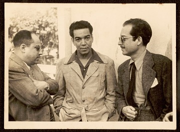 thumbnail image for Photograph of Enrique Riveron with Mario Moreno and Antonio Arias Bernál