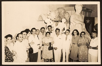 thumbnail image for Enrique Riveron with Amelia Pelacz and other Cuban artists