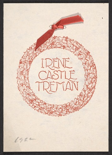 thumbnail image for Irene Castle Treman Christmas card to Mary Fanton Roberts