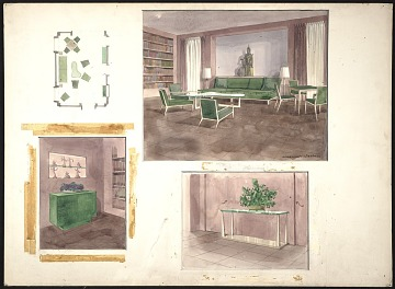 thumbnail image for Strauss residence living room design sketches