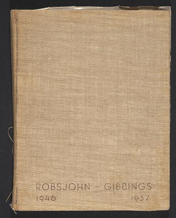 thumbnail image for Scrapbook of materials pertaining to T.H. Robsjohn-Gibbings' work