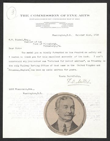 thumbnail image for Francis Millet Rogers research material regarding Francis Davis Millet, 1897-1955, (bulk 1945-1955)