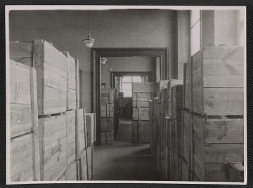 thumbnail image for Storage rooms inside Museum Wiesbaden filled with wooden crates