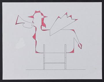thumbnail image for Preparatory sketch for mural <em>Deep Blue Miles</em>