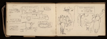 thumbnail image for Lewis Rubenstein's sketchbook documenting a hunger march to Washington, D.C.