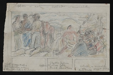 thumbnail image for Sketch for <em>Osage Treaty</em> mural