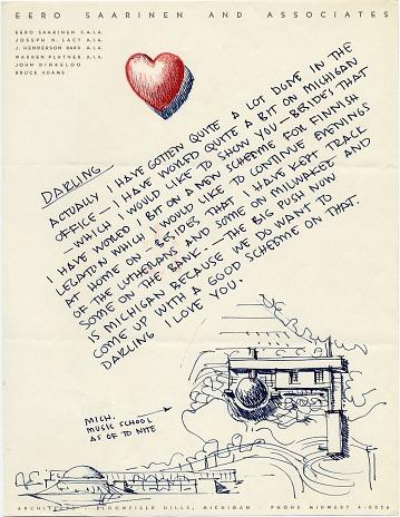 thumbnail image for Eero Saainen to his wife Aline Saarinen