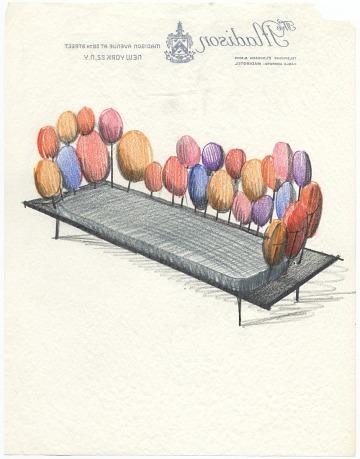 thumbnail image for Design sketch of a sofa by Eero Saarinen