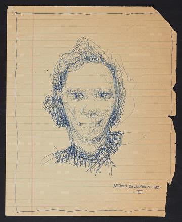 thumbnail image for Sketch of Aline Saarinen