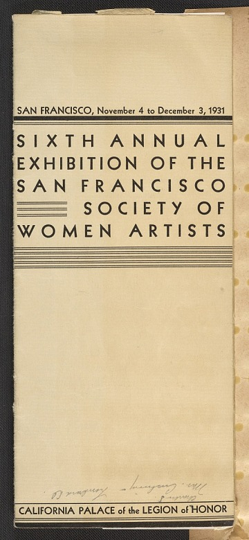 thumbnail image for San Francisco Women Artists records, 1925-1999