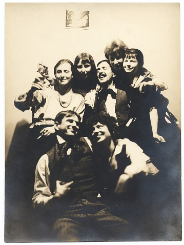 thumbnail image for Group of seven artists at a party at the home of Yasuo Kuniyoshi