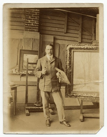 thumbnail image for Walter E. Schofield in a studio