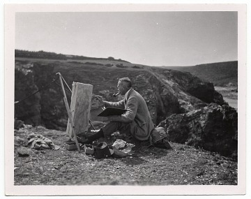 thumbnail image for W.E. Schofield painting on the top of a hill.