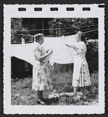 thumbnail image for Women hanging laundry