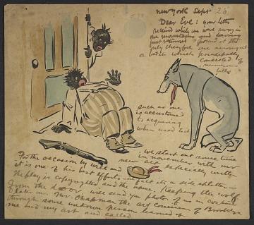 thumbnail image for George Benjamin Luks letter to Everett Shinn