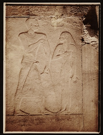 thumbnail image for Egyptian wall relief used as source material for Joseph Lindon Smith.