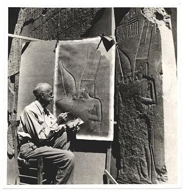 thumbnail image for Joseph Lindon Smith reproducing an Egyptian bas relief