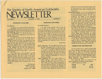 thumbnail image for Society of North American Goldsmiths records, ca. 1965-2003, (bulk 1985-1995)
