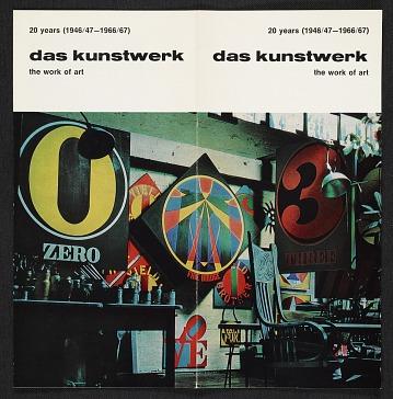 thumbnail image for Brochure for <em>Das Kunstwerk</em> magazine