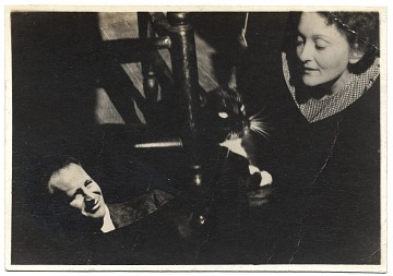 thumbnail image for Alexander Stavenitz and Barbara Burrage with their cat