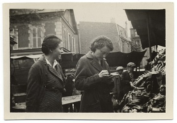 thumbnail image for Barbara Burrage with her cousin in Asnieres, France