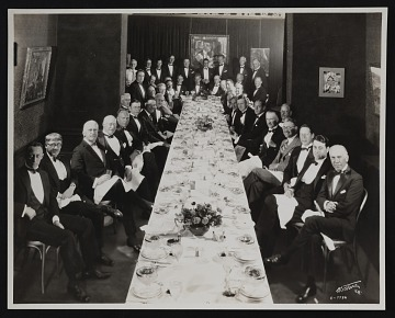 thumbnail image for Earl Stendahl's dinner at Stendahl Galleries, Ambassador Hotel in Los Angeles, California.