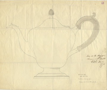 thumbnail image for Design for a silver teapot