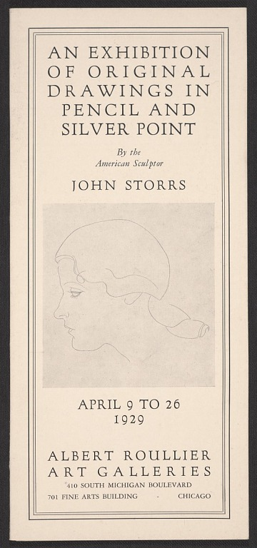 thumbnail image for An exhibition of original drawings in pencil and silver point by the American sculptor John Storrs