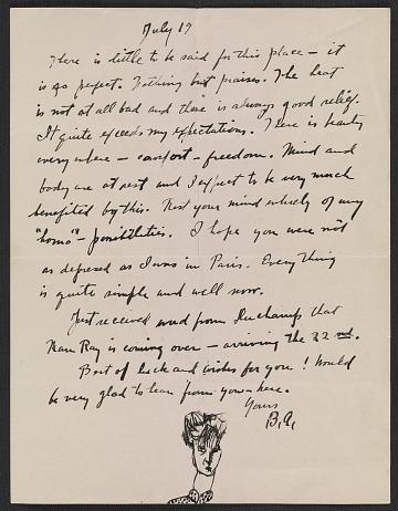 thumbnail image for Berenice Abbott letter to John Henry Bradley Storrs