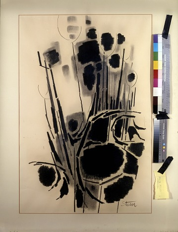 thumbnail image for Reproduction of an abstract charcoal drawing by Dorothy Sturm