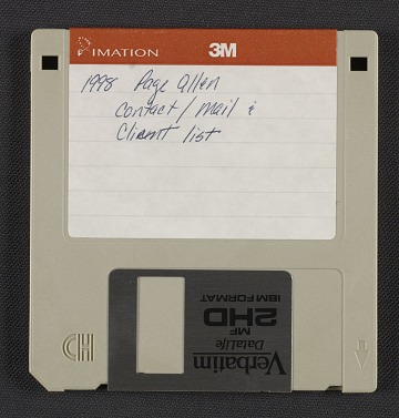 thumbnail image for Page Allen floppy disk of contacts