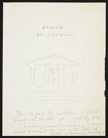 thumbnail image for William Wegman letter to Athena Tacha