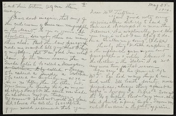 thumbnail image for Henry Ossawa Tanner letter to Eunice Tietjens