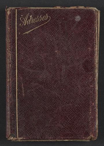thumbnail image for Henry Ossawa Tanner's address book