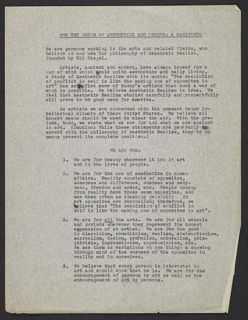 thumbnail image for Terrain Gallery records, circa 1950s-2005, bulk 1955-1985