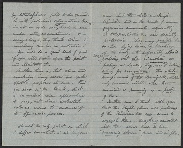 thumbnail image for Letter from Alfred R. Wallace to Abbott H. Thayer