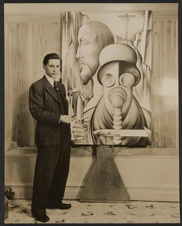 thumbnail image for Abraham Joel Tobias with one of his paintings